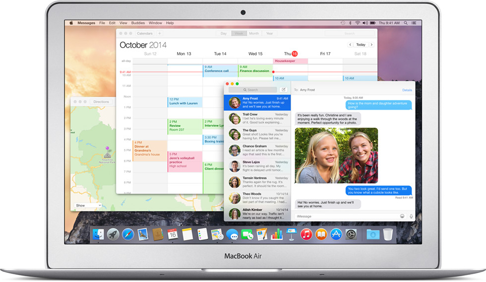 OS X Yosemite on MacBook Air