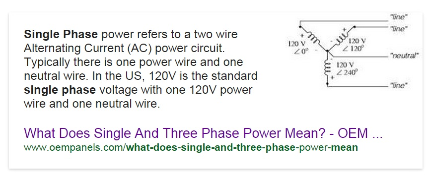 The single and Three Phase Power Delta