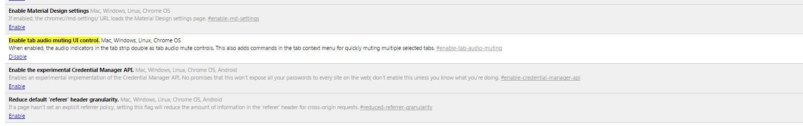 Enable Tab Audio Muting