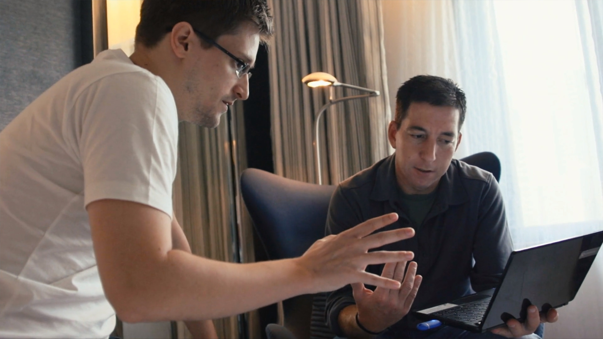 Edward Snowden and Glen Greenwald