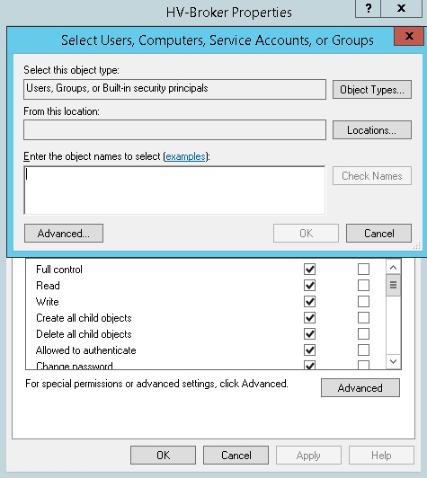 Grant Permission on Computers to Hyper-V Broker